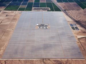 The Solana solar power plant near Gila Bend   Photo: Abengoa Solar